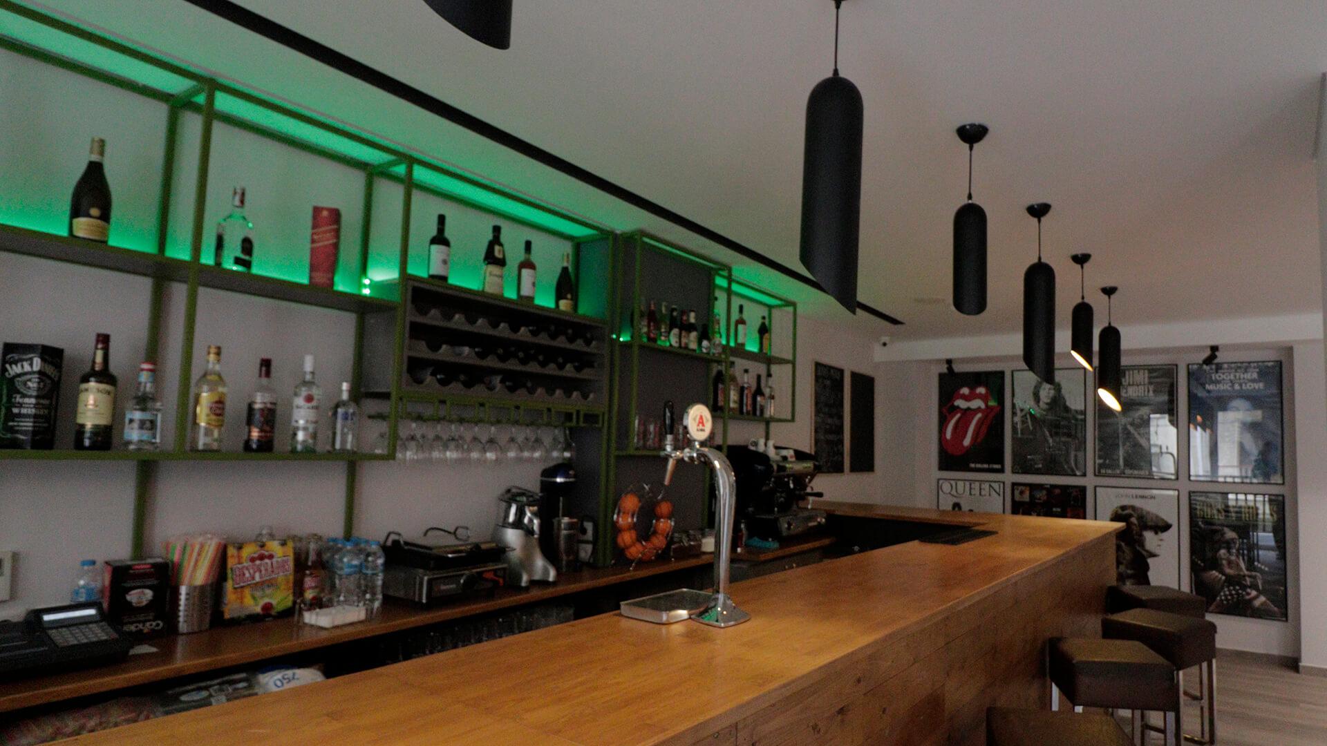 Bar in Athens Hawks Hostel
